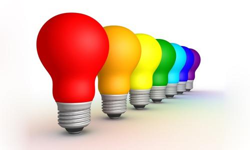 разноцветные лампочки