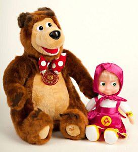 игрушки: Маша и медведь